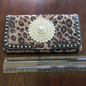 Handbags - Animal Print and Rhinestone/stud Wallet